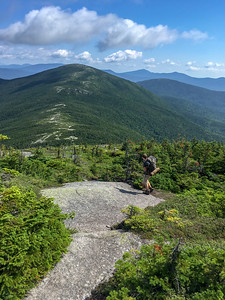 Andy heads north from Saddleback Mountain toward The Horn, on the A.T. in Maine.