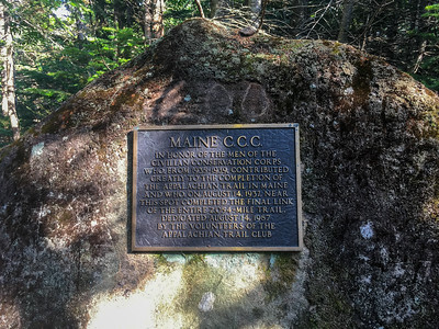 Marker commemorating the spot where the A.T. was finally completed in 1937.