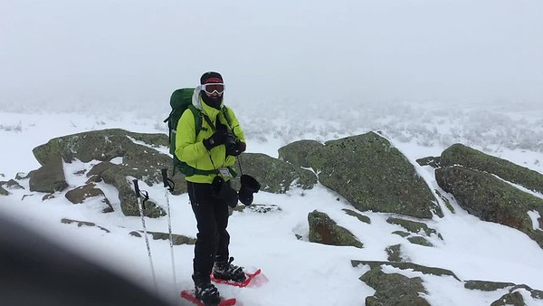 Tim Burdick on the summit of Mount Moosilauke.
