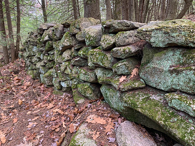 An impressive old stone wall.