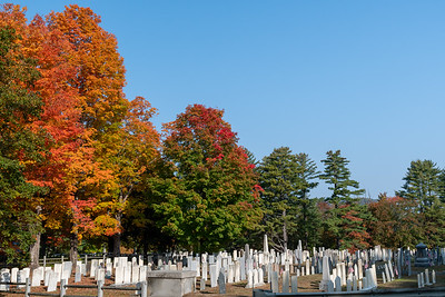 Fall foliage in the town cemetary, Lyme, NH.