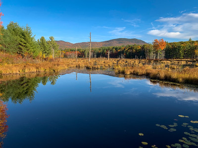 A pretty roadside view (of Mt. Israel?) on Rt113 in NH.