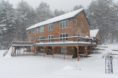 Our home in the season's first real snowstorm.