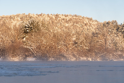 View across the river - morning after snowstorm.