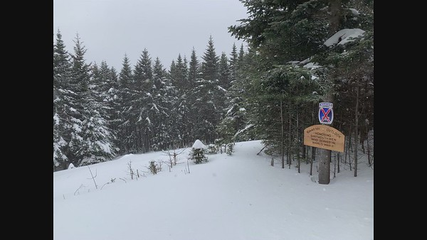The 10th Mountain Division overlook on the Al Merrill Loop, Mount Moosilauke.
