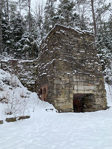 At the base of Black Mountain is a historic lime kiln – where people once burned limestone to make lime.
