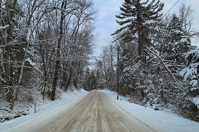 Lime Kiln Road - with recent snowfall.