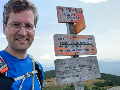 David at the summit of Moosilauke.