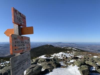 From the summit, looking back along the ridge to South Peak.