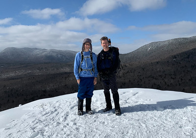 David and Andy on Mt. Pemigewasset, Franconia Notch, NH.