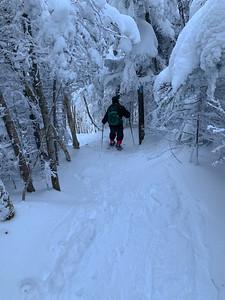 Ken navigates the steep trails and deep snow high on Pico Peak.
