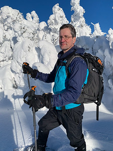 David on the summit of Pico Peak. Photo by Ken Kaliski.