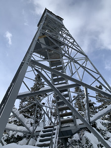 Spruce Mountain firetower.