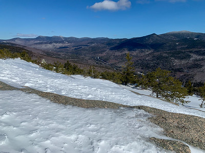 View of the Tripyramids (left) and the Sandwich range (right), from Mount Welch, White Mountains of NH.