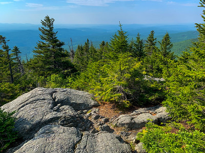 A hazy view from the summit of Worcester Mountain.