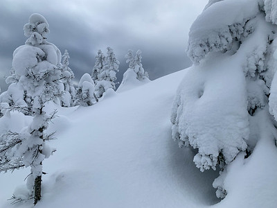 The final pitch to Worcester Mountain was an increibly steep climb through deep powder. Vermont.
