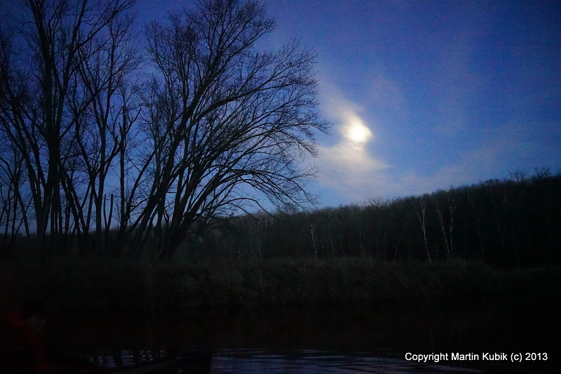 Welcome to anther BWAC trip!   For added sense of adventure we paddle in under the cover of darkness, this time nearly full moon.