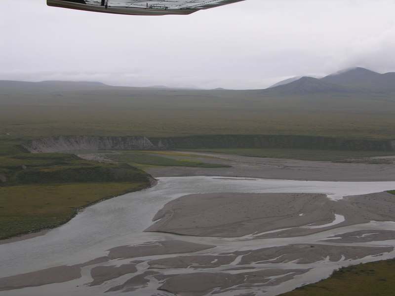 The Noatak River from the air.  This bit of river seen here is probably around Mile 100.