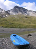 All done.  We inflated the raft not in preparation for beginning our float down the Noatak, but rather to ferry to the bank of the river (our gravel bar was an island) to do some hiking.  The headwaters of the Noatak lie in Gates of the Arctic National Park and we planned to spend three to four days hiking in the park before we began floating towards the sea.