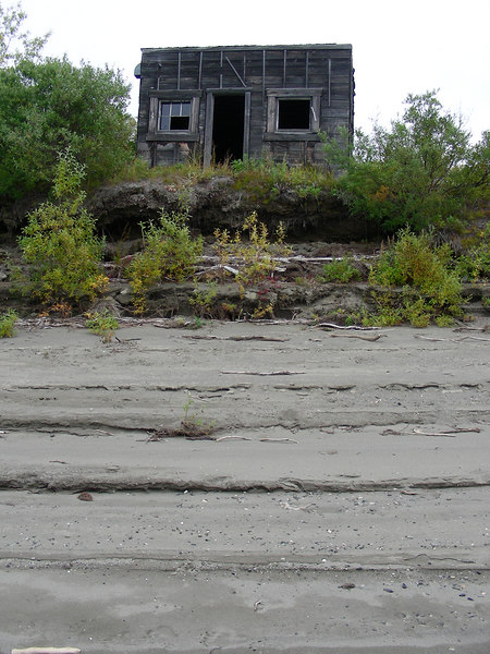 This cabin had not been occupied for many years and was likely a mining camp used during the 1960's.