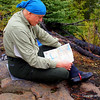 "We took a short break and consulted the map on Fire Lake.  McKenzie Maps now makes compact Eagle Mountain/ Brule Lake Trail map (you might have to call for it  <a href=""http://www.bwcamaps.com/"">http://www.bwcamaps.com/</a>) or buy it at Lake Superior Trading Post in Grand Marais.  Instead having to buy two large - canoeing size maps this one will fit neatly into your pocket!"