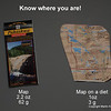 Maps weigh a lot and backpackers use a small portion of the print.  I cut mine to size - just be sure to leave 1-2 miles in each side of the trail in case you take a unplanned detour.