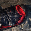 One of the most expensive, but coveted piece of gear.  Marmot Plasma 40 down sleeping bag with Pertex shell.  Less than 1.25 pounds, it is my favorite bag and kool-looking too.