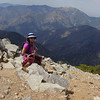 Angela at Baldy summit<br /> in the distance is Mt. Baden-Powell