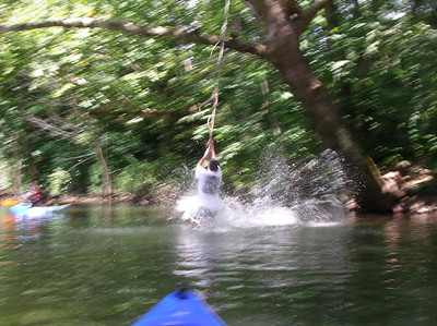 Rope swing on Yellow Breeches near Messiah College