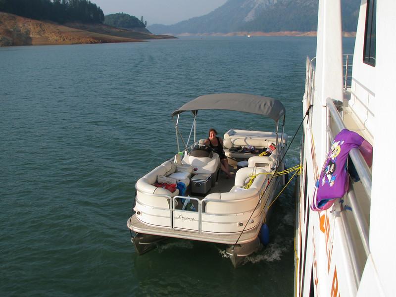 Melody on Chloe's boat