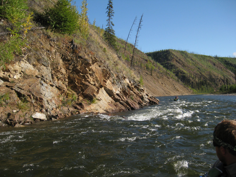 Although the rocky terrain of the upper Charley was transitioning into gently rolling hills, some exciting water yet remained along the river's course.
