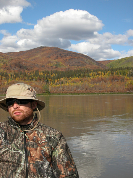 Pat and fall colors along the Yukon...