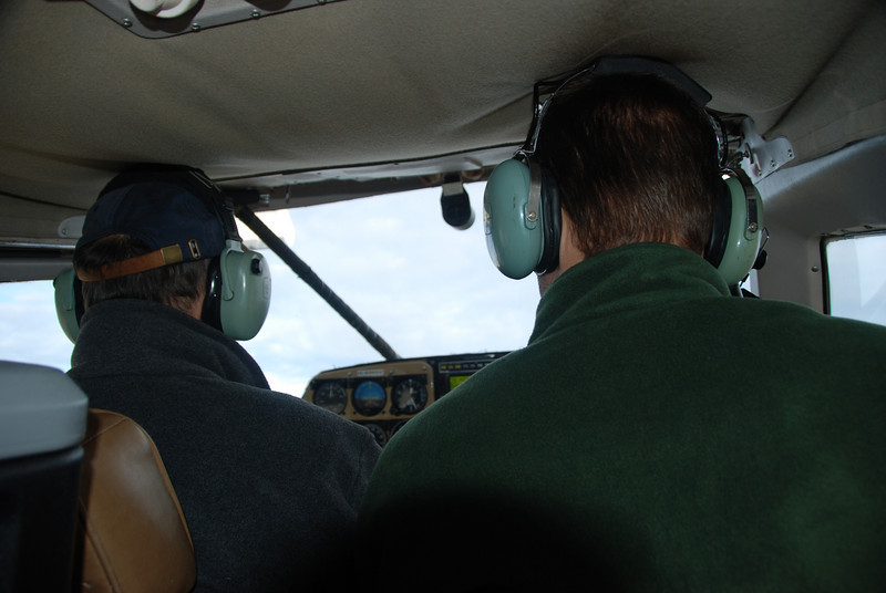 Pilot, Bob (photo-left), and Devan as we taxi at FAI.