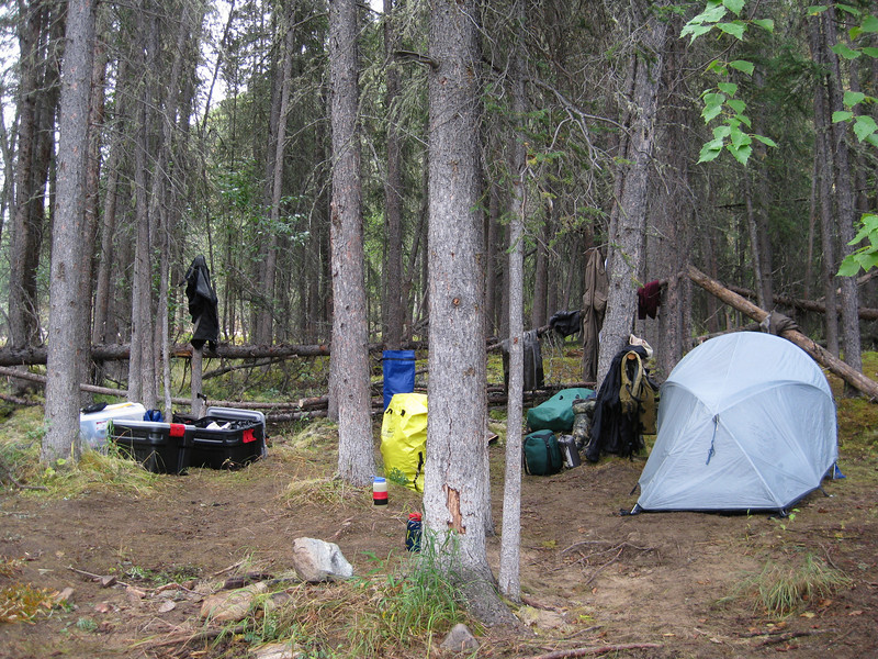 Camp 2, as viewed on the morning of Day 3.