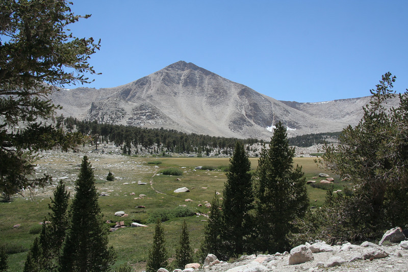 first view of Cirque Peak and South Fork basin