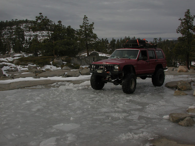 This frozen pond held the weight of my truck across the entire 50 yard length of ice...pretty cool.