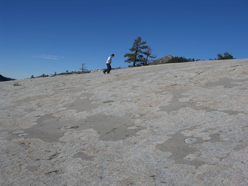 Ian marching up out of Granite Bowl.