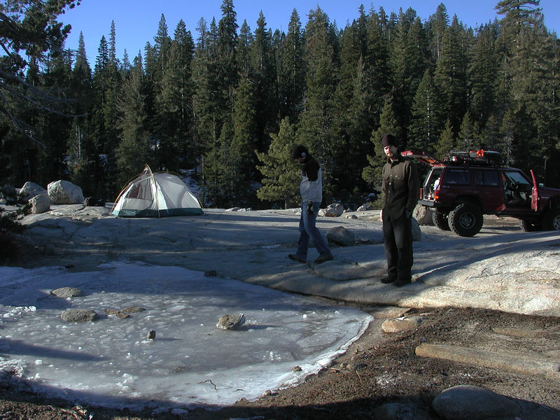View of camp on Friday morning.  It was a bit chilly (20 F), but the day promised to beautiful.
