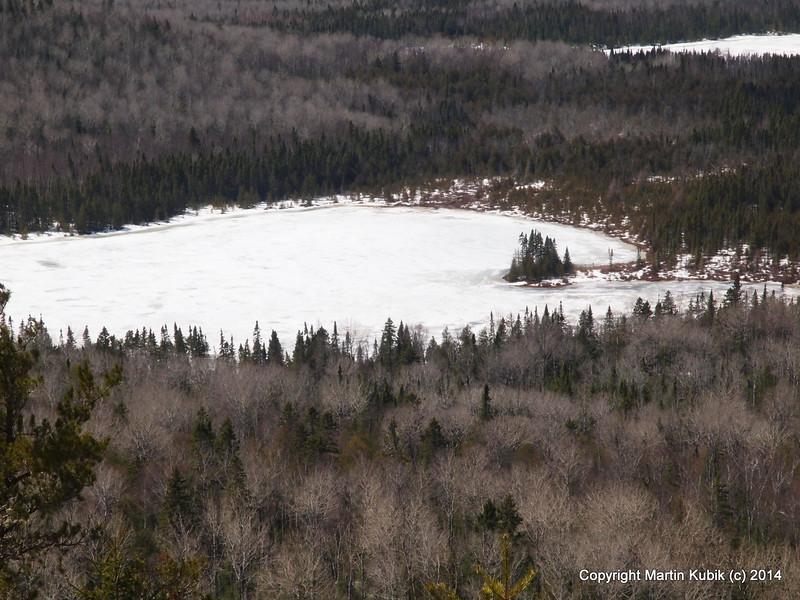 Shrike Lake peninsula from top of Eagle.