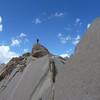 Jeremy atop the summit block