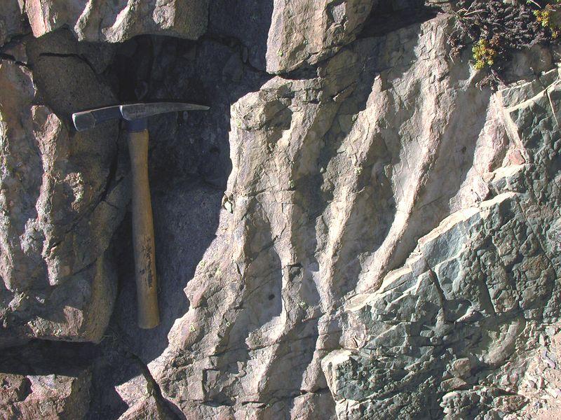 Ripple marks within Miocene volcaniclastic sandstone.