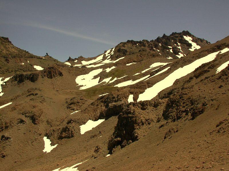Quaternary andesite lavas.