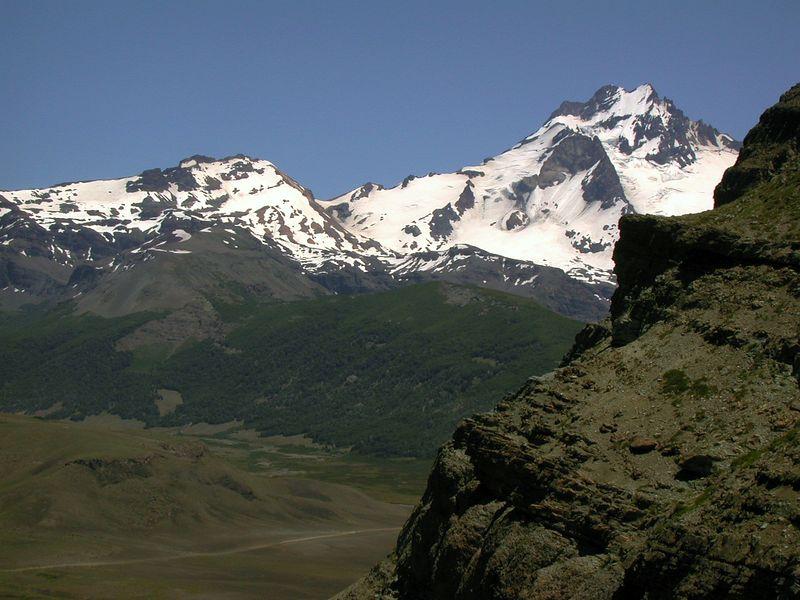 View of Sierra Velluda from Cerro Los Pinos.