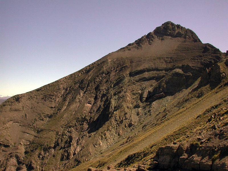View of peak north of Cerro Los Pinos.
