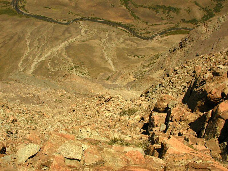 View from Cerro Los Pinos of Rio Los Pinos.