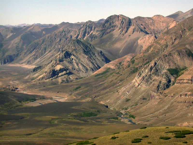 View west of Cerro Los Pinos.