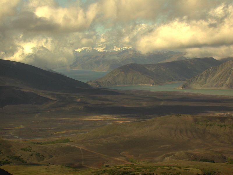 Southern arm of Laguna del Laja.
