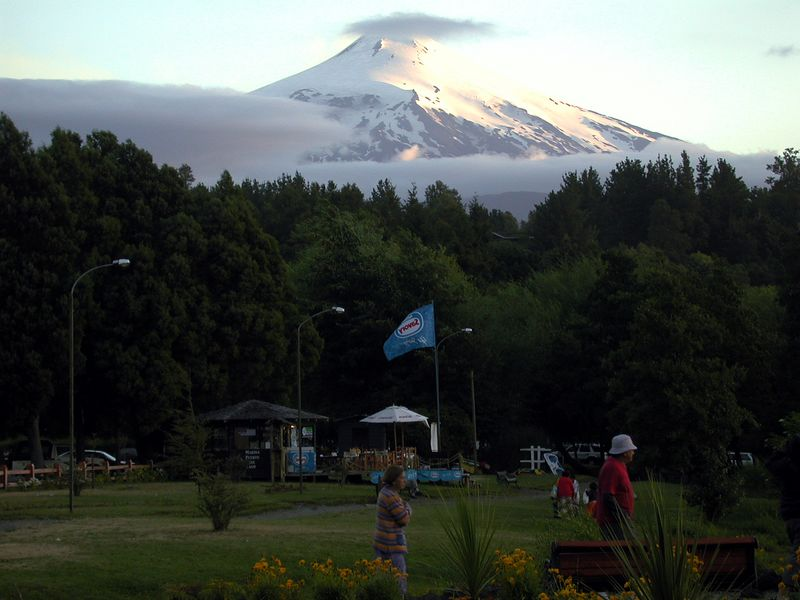 View of Volcan Villarrica from Pucon.
