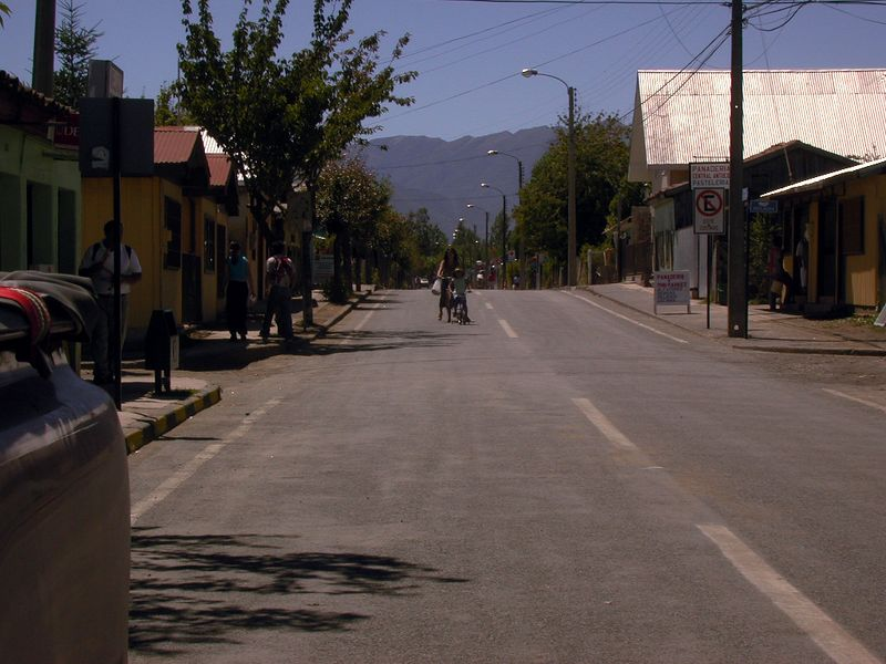 Abanico, Chile.  This small town was about a two hour drive on unpaved roads from the field area at Laguna del Laja.