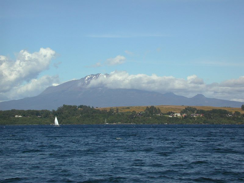 Lago Llanquehue with Volcan Calbuco in the background.